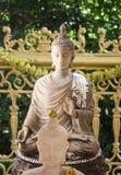 Buddhastaty av stenen Royaltyfria Bilder
