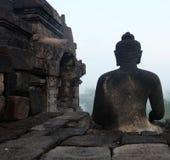 Buddhastaty från baksidan Arkivfoton