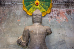 Buddhastaty i Angkor Wat, Cambodja Arkivfoton