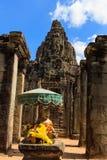 Buddhastaty i den Bayon templet Royaltyfri Fotografi