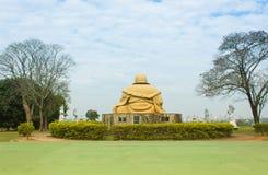 Buddhastaty i den buddistiska templet, Brasilien Arkivfoto