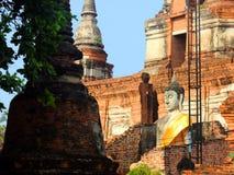 Buddhastaty i den forntida templet Wat Phra Sri Sanphet, gamla Royal Palace ayutthaya thailand arkivfoto