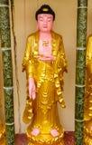 Buddhastaty i den Kek Lok Si templet, Penang arkivfoton