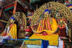 Buddhastaty i den Kharkhorin Erdenzuu kloster, Mongoliet Royaltyfri Fotografi