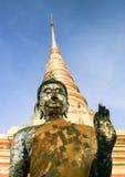 Buddhastaty i tempel Royaltyfri Foto