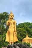 Buddhastaty i templet nordliga Thailand Royaltyfri Foto