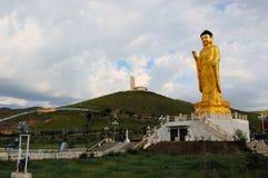 Buddhastaty i Ulan Bator Mongoliet Arkivbilder