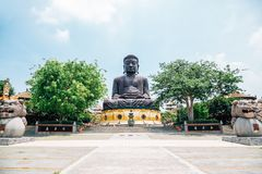 Buddhastaty på Baguashan i Changhua, Taiwan Royaltyfri Fotografi