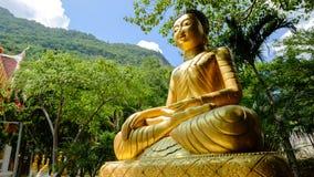 Buddhastaty på berget Arkivfoton