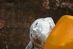 Buddhastaty på forntida slottar ayutthaya thailand Royaltyfri Foto
