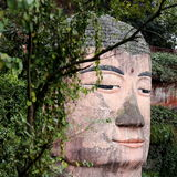 Buddhastaty på Leshan, Kina Arkivbild