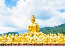 Buddhastaty på Nakornnayok Royaltyfria Foton