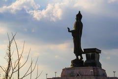Buddhastaty på nordostliga Buddhamonthon , Khonkaen Thailand Arkivbilder