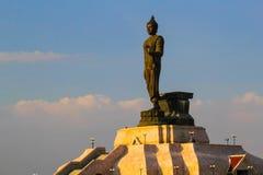 Buddhastaty på nordostliga Buddhamonthon , Khonkaen Thailand Royaltyfri Foto