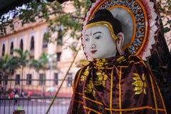 Buddhastaty på Sule Pagoda, Yangon, Burma Arkivbild
