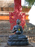 Buddhastaty på Wat Lok Molee, Chiang Mai, Thailand arkivfoto