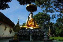 Buddhastaty på Wat Phra That Chom Chaeng, Thailand Royaltyfria Bilder
