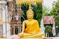 Buddhastaty på Wat PraThat ThaUthen, Nakhonphanom Thailand Royaltyfria Foton