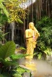 Buddhastaty på Wat Sraket Rajavaravihara, Thailand Arkivbild