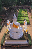 Buddhastaty på Wat Yai Chai Mongkol, Ayuttaya, Thailand Royaltyfri Fotografi