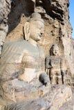 Buddhastaty på Yungang grottor i Datong, Kina Royaltyfri Bild