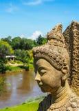 Buddhastatybild Arkivbilder