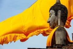 Buddhastatyer i Phra Nakhon si Ayutthaya Arkivbild