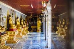 Buddhastatyer i Phrathat Doi Suthep Wat Royaltyfri Foto