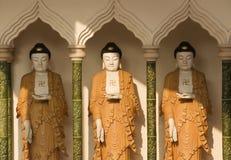 Buddhastatyer, kinesisk tempel, Penang, Malaysia royaltyfria foton