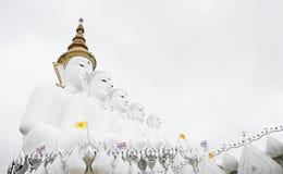 5 Buddhastatyer, offentlig tempel i Phetchabun Thailand, View1 Royaltyfria Bilder