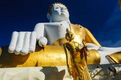 Buddhastatyer på Wat Doi Kham arkivbild