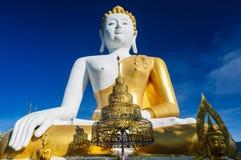 Buddhastatyer på Wat Doi Kham royaltyfri foto