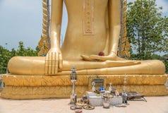Buddhastatyhänder Fotografering för Bildbyråer