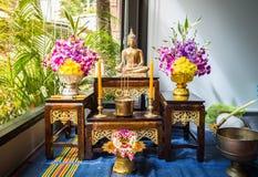 Buddhastatyuppsättning Arkivfoton