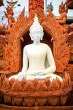 Buddhastearinljus royaltyfria foton