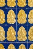 Buddhaväggtegelplatta Kek Lok Si Temple Penang Malaysia royaltyfria foton