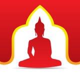 Buddhavektorillustration Fotografering för Bildbyråer