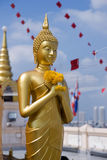 Buddhha statue in Golden mountain temple Royalty Free Stock Photography