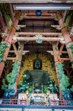 Buddhidt in Wooden main building of Todaiji temple in Nara Stock Images