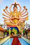 泰国地标 在大菩萨寺庙的观世音菩萨雕象 Buddhis 免版税库存图片