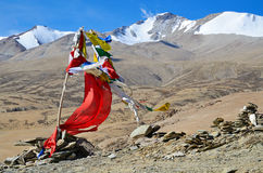 Buddhis� prayer flags in Himalayas Royalty Free Stock Photo