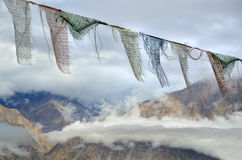 Buddhis� prayer flags in Himalayas Stock Image
