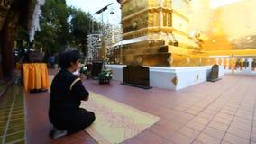 buddhism świątynia Thailand dłoni Wiara, cześć, modlitewny materiał filmowy zbiory