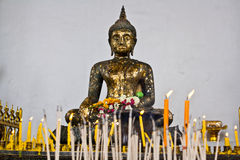 Buddhism. Buddha image, thai art in the temple stock photography