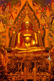 Buddhism. Buddha image, thai art in the temple stock image
