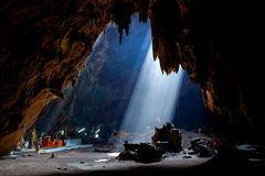 Buddhism cave. Buddhism light cave in Thailand Royalty Free Stock Image