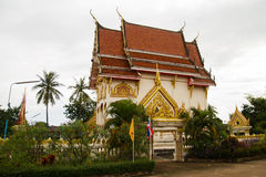 Buddhism church. In Thai temple Stock Photos
