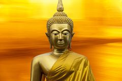 Gautama Buddha source of great Asian religion. Buddhism and dharma that encompasses a variety of traditions, beliefs and spiritual practices largely based on Royalty Free Stock Photo