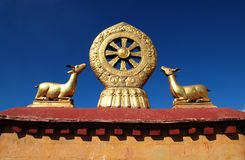 Buddhism Emblem Stock Photography