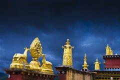 Buddhism en las construcciones de Tíbet Imágenes de archivo libres de regalías